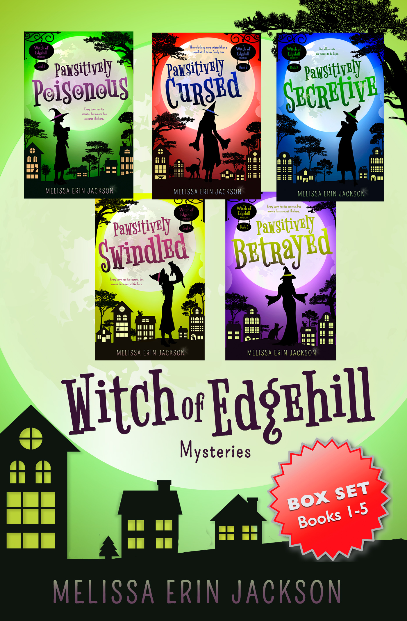 A Witch of Edgehill Mystery Box Set: Books 1-5 Cover